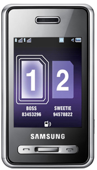 Samsung D980 Dual Sim  Mobile Price in India